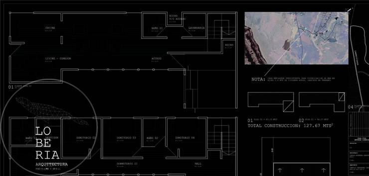 Diseño Casa Herrera por Lobería Arquitectura:  de estilo  por Loberia Arquitectura