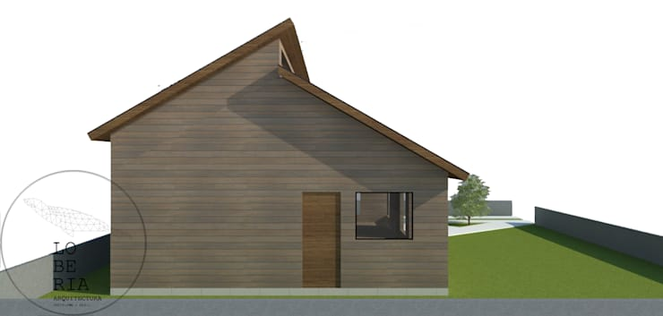 Diseño Casa Isabel por Lobería Arquitectura: Casas unifamiliares de estilo  por Loberia Arquitectura