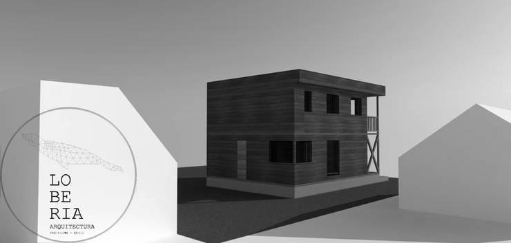Diseño de Casa Reyes por Lobería Arquitectura: Casas unifamiliares de estilo  por Loberia Arquitectura