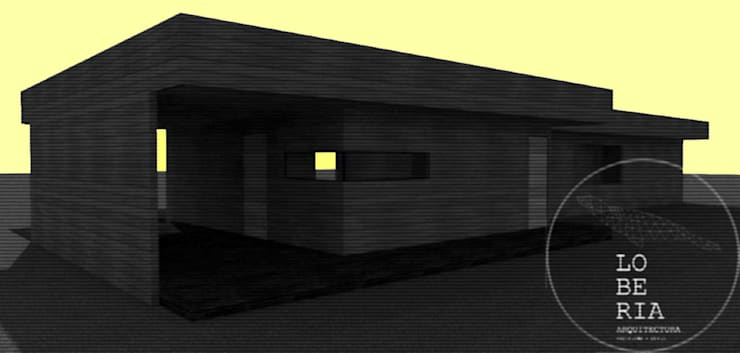 Diseño de Casa 133 por Lobería Arquitectura: Casas unifamiliares de estilo  por Loberia Arquitectura