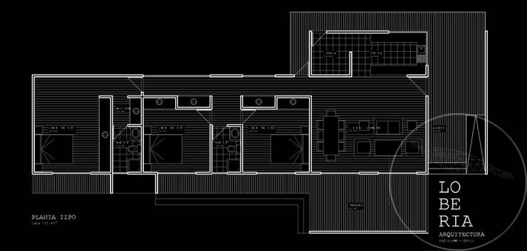Diseño de Casa 133 por Lobería Arquitectura:  de estilo  por Loberia Arquitectura