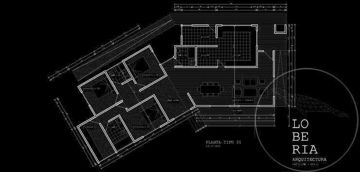 Diseño de Casa Ferrer por Lobería Arquitectura:  de estilo  por Loberia Arquitectura