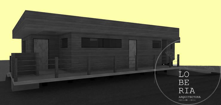 Diseño de Casa Ferrer por Lobería Arquitectura: Casas unifamiliares de estilo  por Loberia Arquitectura