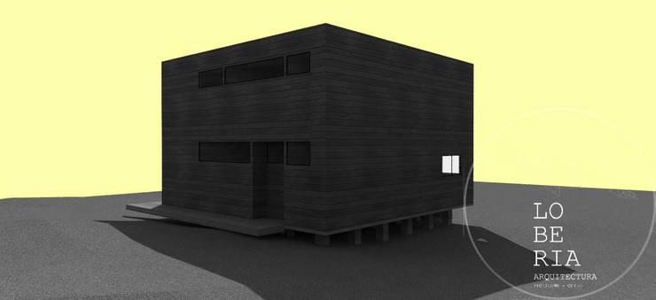 Diseño de Casa Flavio por Lobería Arquitectura: Casas unifamiliares de estilo  por Loberia Arquitectura