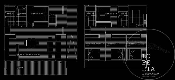 Diseño de Casa Flavio por Lobería Arquitectura:  de estilo  por Loberia Arquitectura