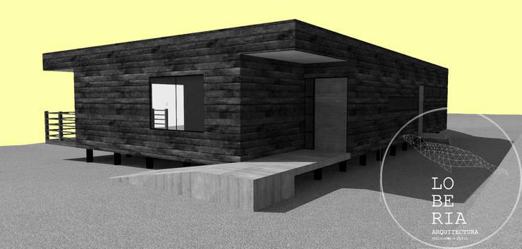 Diseño de Casa Jacob por Lobería Arquitectura: Casas unifamiliares de estilo  por Loberia Arquitectura