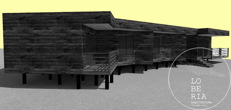 Diseño de Casa Jacob por Lobería Arquitectura: Casas de estilo  por Loberia Arquitectura