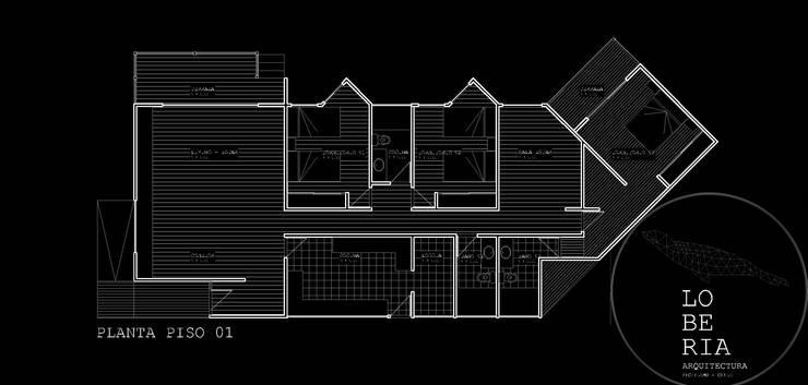 Diseño de Casa Jacob por Lobería Arquitectura:  de estilo  por Loberia Arquitectura