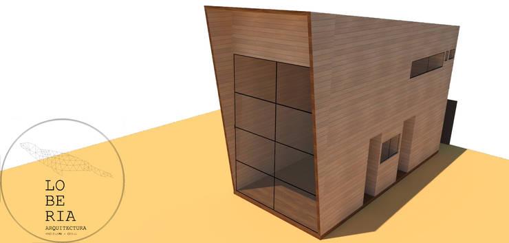 Diseño de Loft 56 por Lobería Arquitectura: Casas unifamiliares de estilo  por Loberia Arquitectura