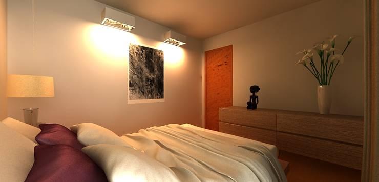 Alcoba: Habitaciones de estilo  por URCODI