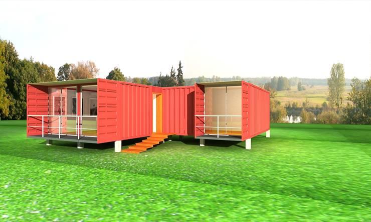 VIVIENDA CONTENEDOR: Casas unifamiliares de estilo  por URCODI
