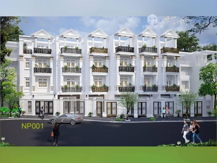 Dự án nhà phố Tân Cổ Điển dạng đầu tư:   by Công ty TNHH Thiết kế Xây dựng Ngôi Nhà Hoàn Hảo