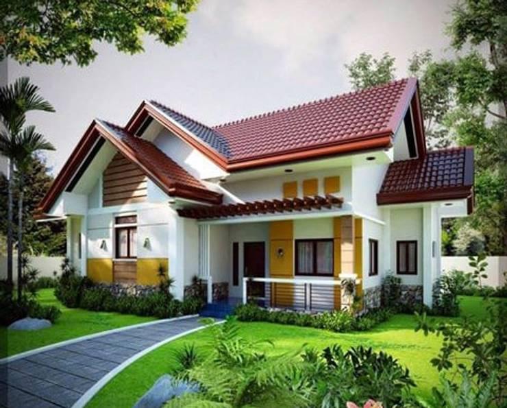 Mẫu nhà vườn 1 tầng mái Thái có gác lửng vừa đẹp lại vừa rẻ:   by Kiến Trúc Xây Dựng Incocons