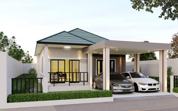 บ้านจำลอง 3D อ.พระสมุทรเจดีย์:  บ้านและที่อยู่อาศัย by บริษัท พี นัมเบอร์วัน คอนสตรัคชั่น จำกัด