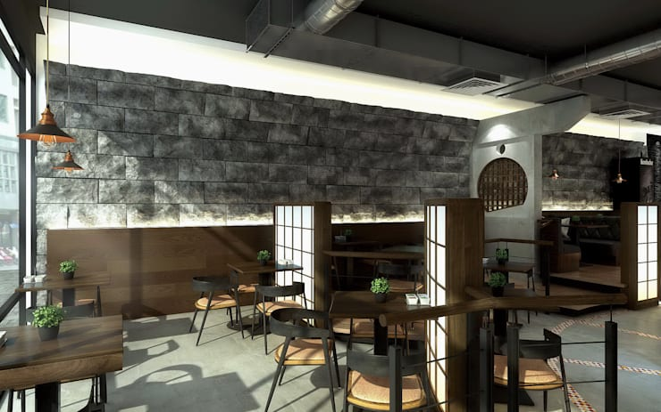 新平價燒烤啤酒餐廳- 宜蘭店:  餐廳 by 京采空間設計