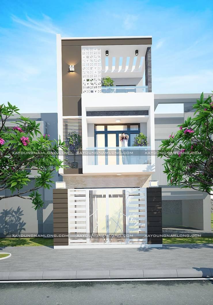 Mẫu thiết kế nhà phố 5x12:  Nhà nhỏ by Công ty cổ phần tư vấn kiến trúc xây dựng Nam Long