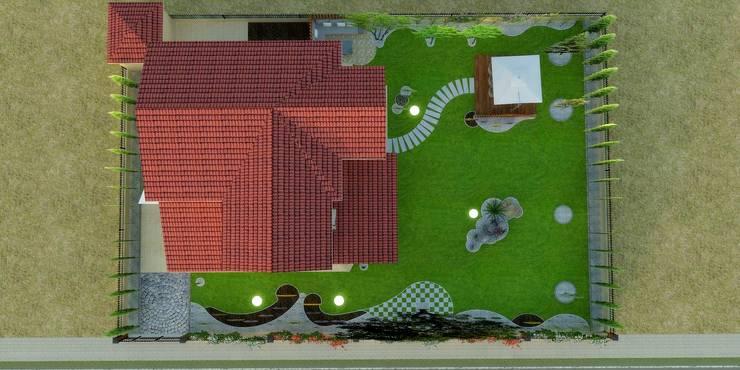 Mimari 3D Render  – Peyzaj Projesi – Çanakkale/Güzelyalı:  tarz Bahçe, Modern