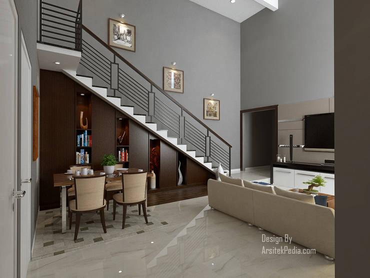 Ruang Tamu & Ruang Makan 2:  Ruang Makan by Arsitekpedia
