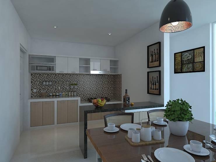 Interior Wahid Hasim Semarang:  Unit dapur by Arsitekpedia