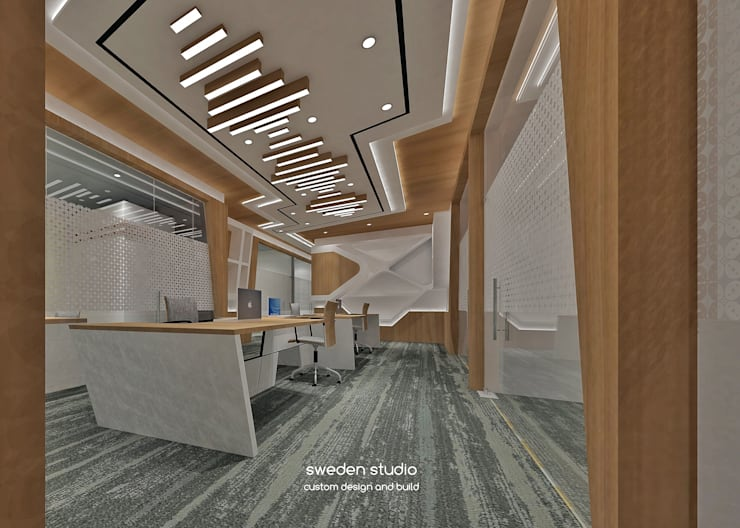 Solvey Pharma Office:  Gedung perkantoran by Sweden studio