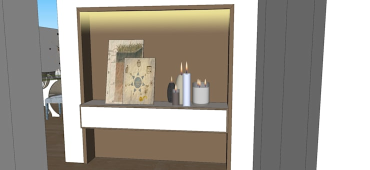 Casa di Alessia: Soggiorno in stile  di Antonella Petrangeli