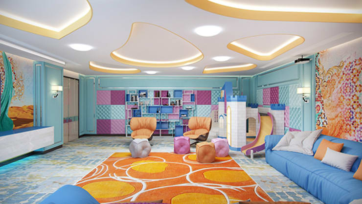 Children's Sitting Room by Famous Architecture Company:   by Luxury Antonovich Design
