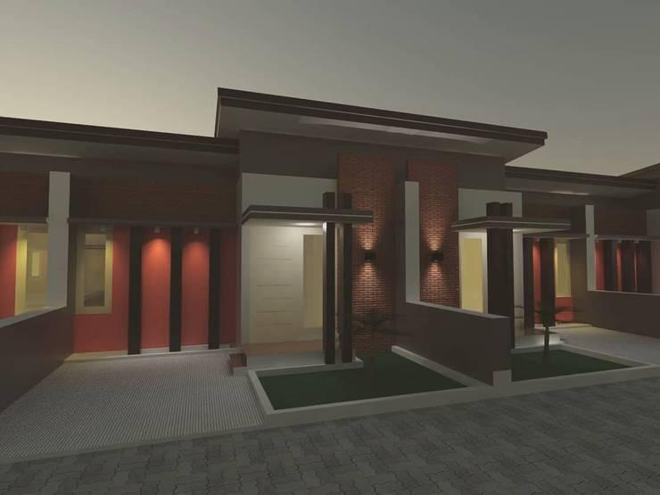 Desain rumah tinggal minimalist:   by Bujur Sangkar Studio