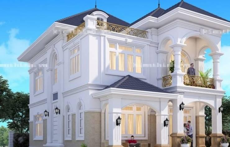 Những mẫu biệt thự kiểu pháp đẹp, kinh phí khoảng 1,5 tỷ đồng:   by Kiến Trúc Xây Dựng Incocons