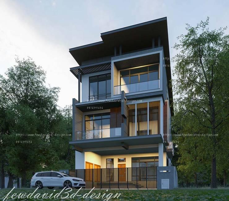 บ้านพักอาศัย3ชั้น ถนนเจริญนคร By FEWDAVID3D:   by fewdavid3d-design
