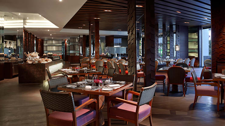 Ritz Carlton Bali, custom chairs, lounge and bar area:  Ruang Makan by Sweden studio