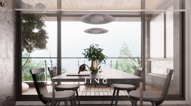 Pingtung City 陸宅:  餐廳 by 景寓空間設計