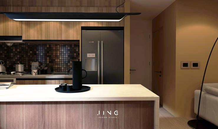 Éléments de cuisine de style  par 景寓空間設計,