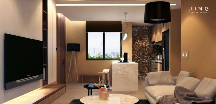 Salle à manger de style  par 景寓空間設計,