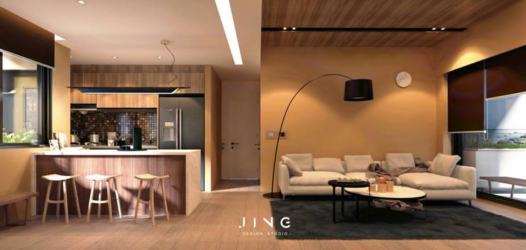 Salon de style  par 景寓空間設計,
