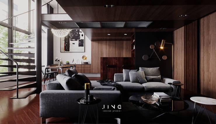 Pingtung City -蔡宅:  客廳 by 景寓空間設計