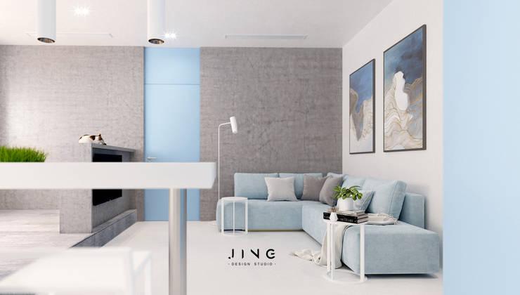 Kaohsiung 吳宅:  客廳 by 景寓空間設計