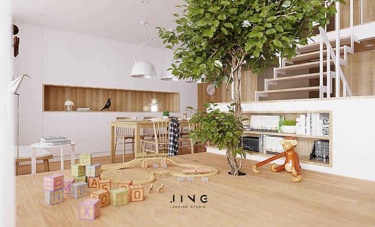 Pingtung 蔡宅:  嬰兒房/兒童房 by 景寓空間設計