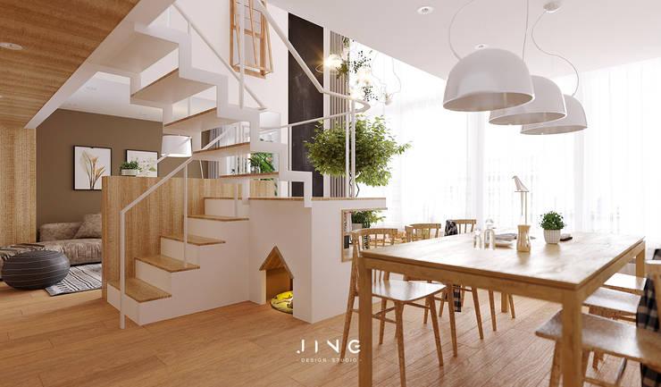 Pingtung 蔡宅:  餐廳 by 景寓空間設計