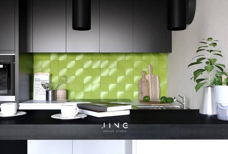 Kitchen units by 景寓空間設計, Modern
