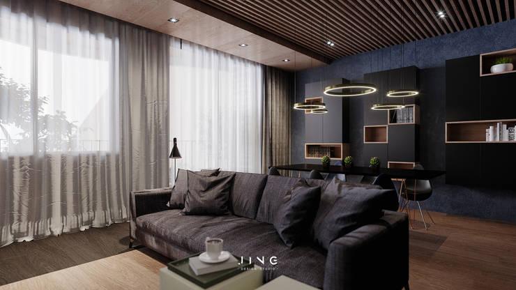 Kaohsiung 陳宅:  客廳 by 景寓空間設計