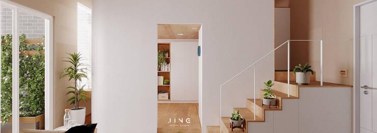 Kaohsiung 蔡宅:  客廳 by 景寓空間設計