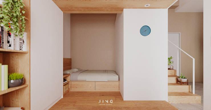 Kaohsiung 蔡宅:  臥室 by 景寓空間設計