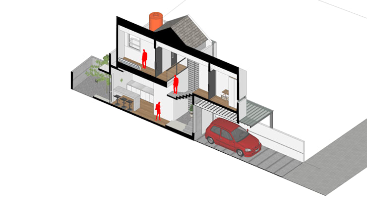 Isometri Potongan Bangunan:   by Tigha Atelier