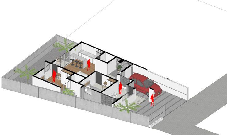Isometri Denah Lantai 1:   by Tigha Atelier
