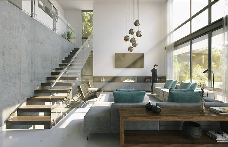 Proyecto Costa67: Salas de estilo  por CODIAN CONSTRUCTORA
