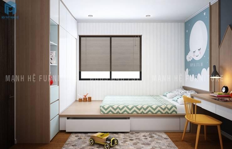 Dormitorios pequeños de estilo  por Công ty TNHH Nội Thất Mạnh Hệ
