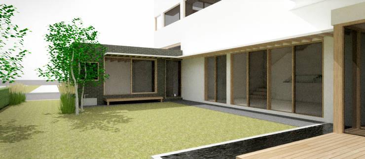 정원: 건축사사무소 모뉴멘타의  정원,모던 우드 우드 그레인