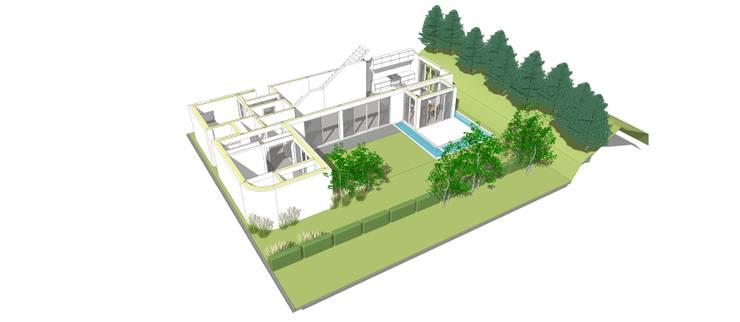 1층: 건축사사무소 모뉴멘타의  주택,모던 우드 우드 그레인