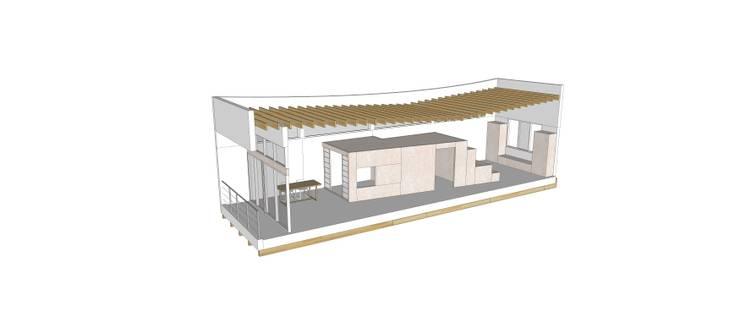 2층: 건축사사무소 모뉴멘타의  주택,모던 우드 우드 그레인