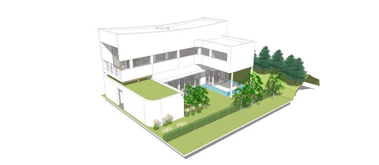 전체 모습: 건축사사무소 모뉴멘타의  주택,모던 우드 우드 그레인
